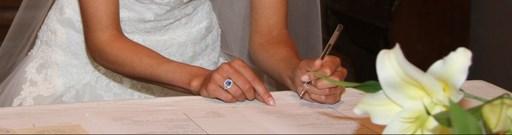 Signature des registres de mariage