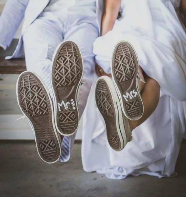 Chaussure et mariés